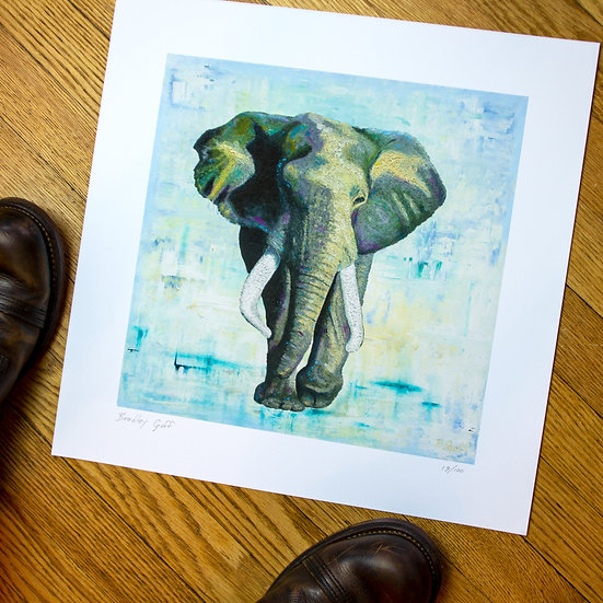 Bernard the Elephant - Limited Edition Giclee Print
