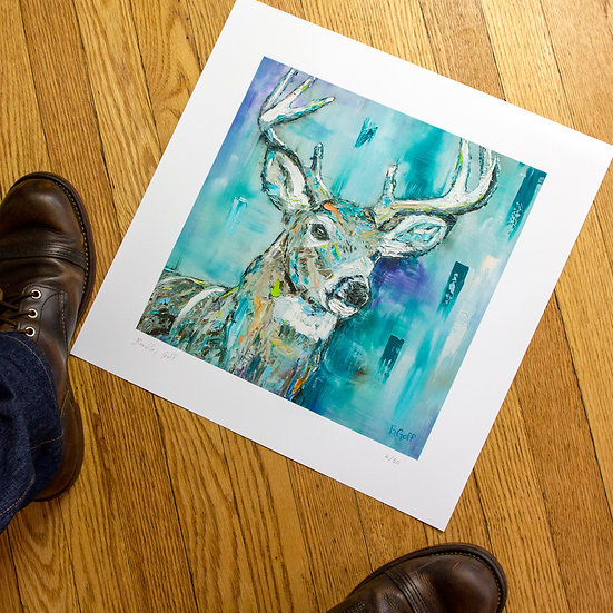 Buck Fever Limited Edition Giclee Print