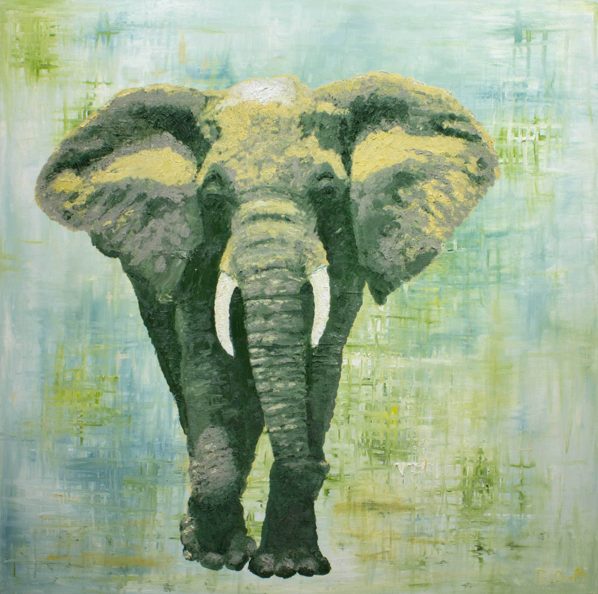 Elephant _ Bradley Goff _ Michigan Oil Painting Artist