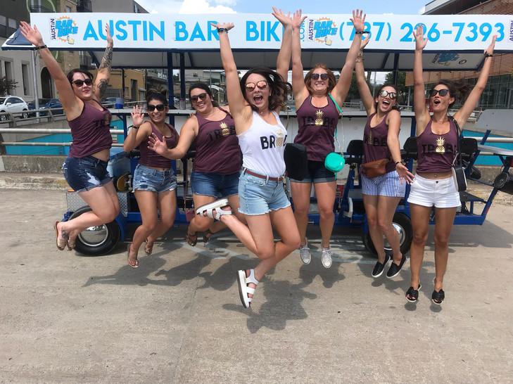 Austin Texas pub crawl.  Good times, everyone jump on 3!!!