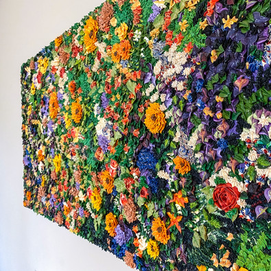 "Frosting Floral 24x54"", oil on canvas 2018"