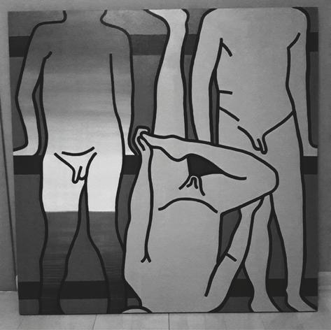 acrylic on canvas, 100x100 sold