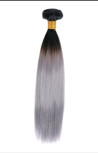 Ombre' Straight Color: 1B/Silver/Salt N Pepper - ORDER BY REQUEST