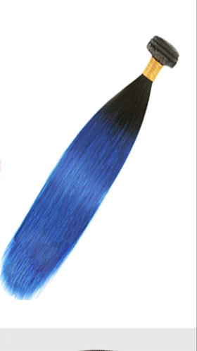 Ombre' Straight Color: 1B/Blue - ORDER BY REQUEST