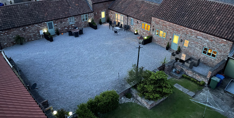 PK Cottages courtyard