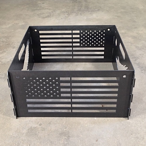 American Flag and Eagle Fire Pit
