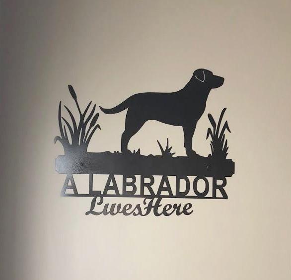 Custom Metal Labrador Sign