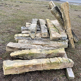 Kansas Hand-Hewn Limestone Fence Post  © 2020 McDonald Stone Co. All Rights Reserved