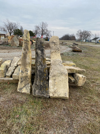 Kansas Hand-Hewn Limestone Fence Post  © 2020McDonald Stone Co. All Rights Reserved