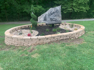 This is Mr. Vance's signature. We just love their landscaping around the heirloom stone they commissioned from MSC.