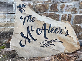 Family stone sign