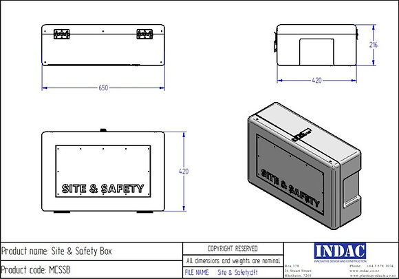 COVID-19  Sanitiser Site and Safety storage box