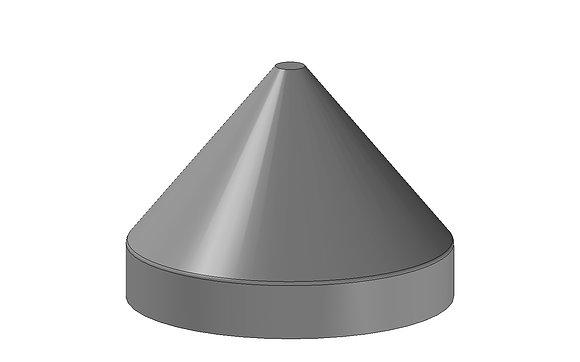 Marina Pole Cap 250mm Round