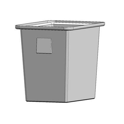 Rotomoulded polyethylene plastic bin 40 litre capacity