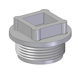 BSP Threaded driver plug, injection moulded from glass filled nylon