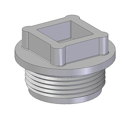 Injection moulded BSP threaded driver plug for fitting Indac bsp spinwelds