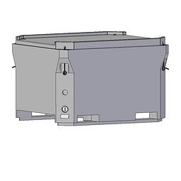 BFT680 Bin 680 litre capacity, insulated bin with lid, froklift entry points, drain bungs, stackable