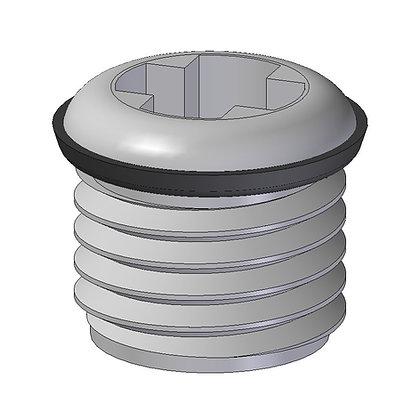"""3/4"""" BSP Plug with O-Ring, plug a 3/4"""" BSP threaded hole"""