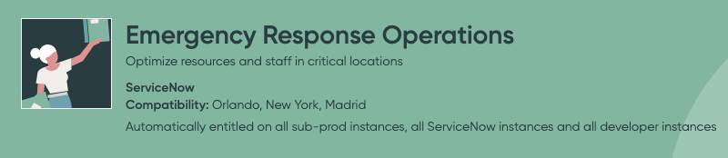 Servicenow Emergency Response Operations
