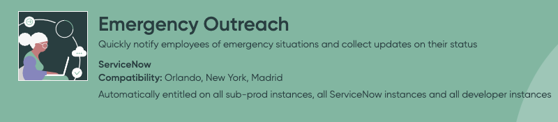 ServiceNow Emergency Outreach