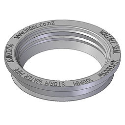 Wallace Seal tank seal for low pressure pipe fittings, injection moulded from PVC