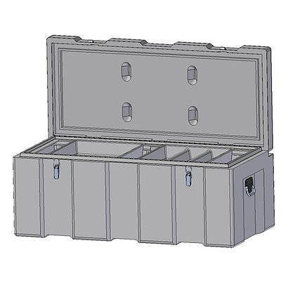 Indac 1200 Toolbox, Ultra Tough and Sturdy Polyethylene Plastic Toolbox with Stainless Steel Fittings