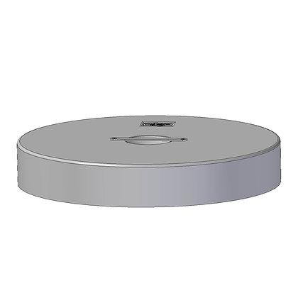 Polyethylene Plastic protective bin lid 605mm diameter with alloy handle