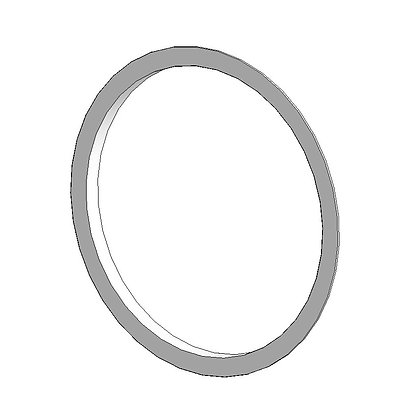 Plastic flange for play ground construction