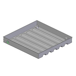 Hot Water Cylinder Drip Tray Designed to meet new NZ building codesG12/AS1 600x600mm rotomouled from Poyethylene plastic