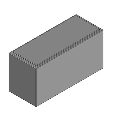 Polyethylene Plastic Storage Tank rectangular 56 Litre