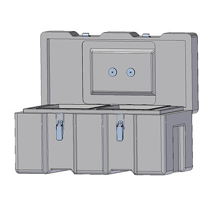 Indac 600 Toolbox, Ultra Tough and Sturdy Polyethylene Plastic Toolbox with Stainless Steel Fittings
