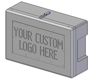 Site and safety box custom logo 3D squar