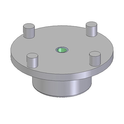 Injection Moulded Spinweld fitting with a Stainless Steel female M6 threaded insert
