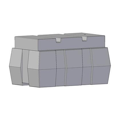 Marina Float rotomoulded from tough durable polyethylene plastic