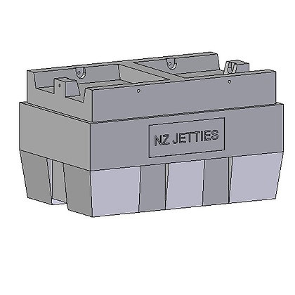 NZ Jetties rotational moulded marina float