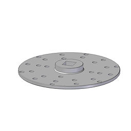 Spinweld Driver Disc fro installing spinwelds, injection moulded from glass filled nylon, square drive router bit fittment hole pattern to fit multiple spinwelds