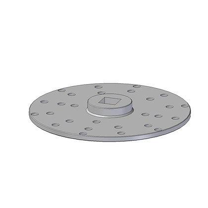 Spinweld driver disc for fitment of large spinwelds
