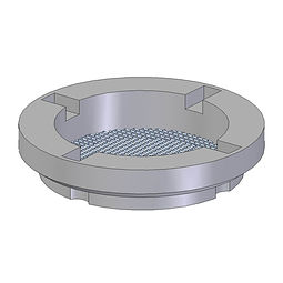 Mesh Breather Spinweld injection moulded from polyethylene with a stainless steel mesh insert