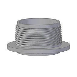 BSPT Threaded spigot spinweld, injection moulded from polyethylene
