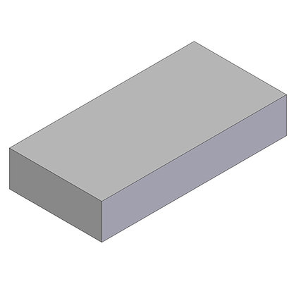 Polyethylene Plastic Storage Tank rectangular 196 Litre