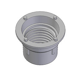 Buttress style threaded fitting, injection moulded frm polyethylene