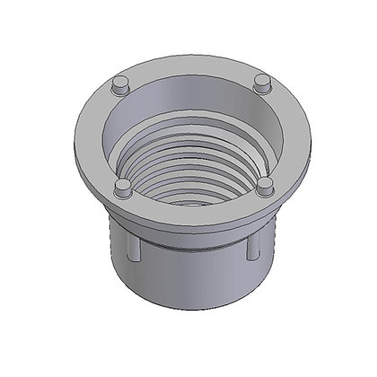 Injection moulded drain buttress threaded spinweld