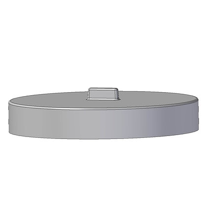Polyethylene plastic protective bin lid 605mm diameter with moulded handle