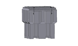 Storage bin 1450 Litre rotomoulded from polyethylene plastic