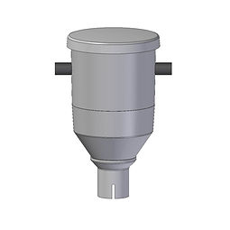 Salmon Feeder SF25 with lid for feeding dry food to salmon rotomoded from polyethylene plastic