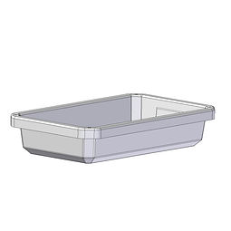 Tray 10 Litre rotomoulded from polyethylene plastic