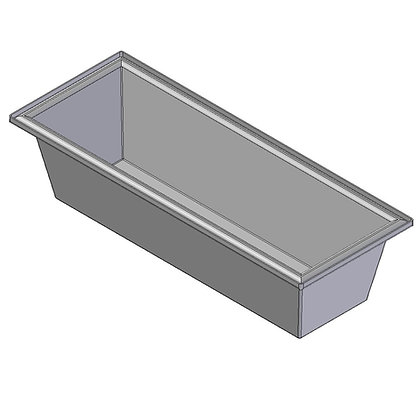 Polyethylene plastic rotomoulded 115 litre trough bin