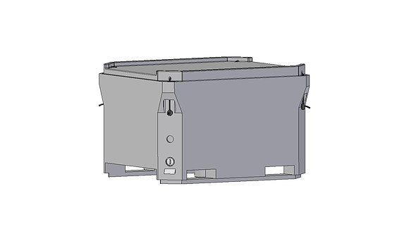 Polyethylene Plastic rotomoulded insulated bin 680 litre forklift tip-able, easy clean, comes with lid