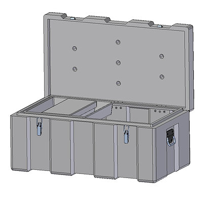 Indac 900 Toolbox, Ultra Tough and Sturdy Polyethylene Plastic Toolbox with Stainless Steel Fittings