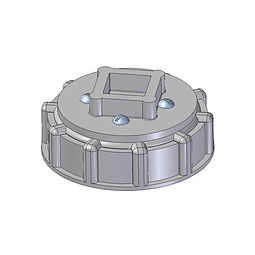 American Buttress Driver Cap injection moulded from nylon with square drive for router bit